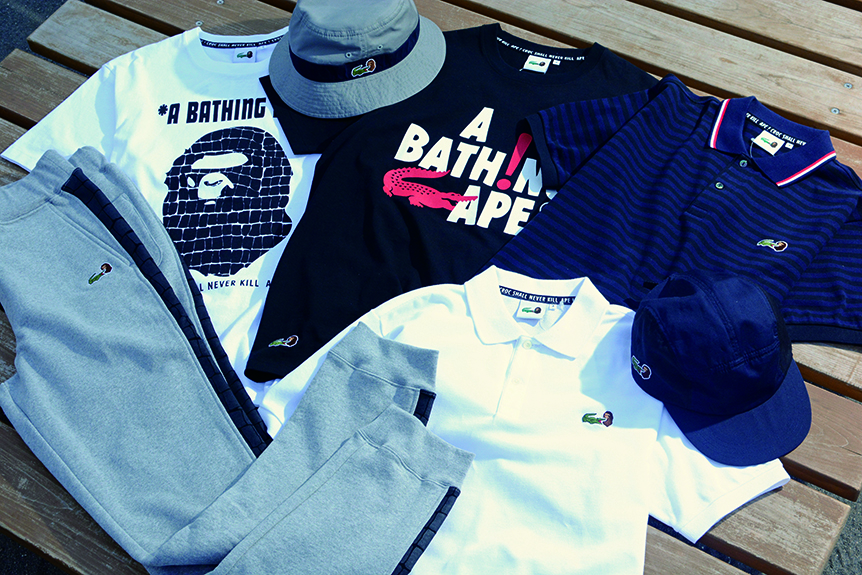 LACOSTE × A BATHING APE
